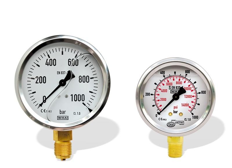 1000 Bar High Pressure Manometers