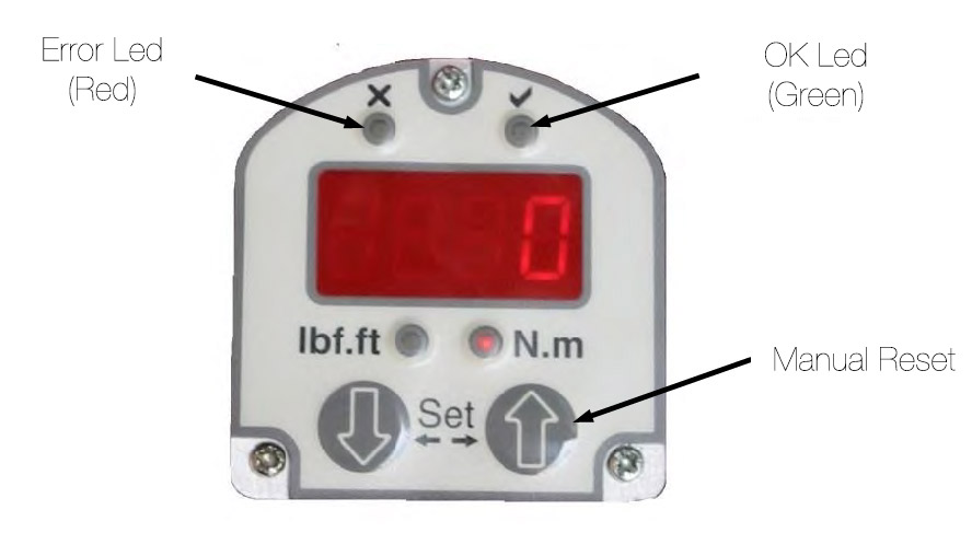 Pneumatic Torque Wrench with Digital Display - Pneumatic